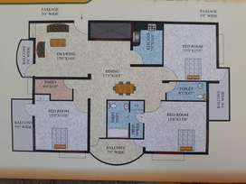3 bedroom,3bathroom attached ,ane big balcony in front facing,store .