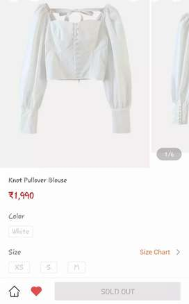 Knot pullover blouse