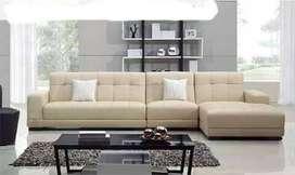 Erafurniture-sofa L new TANIA cream kain baldu+BANTAL