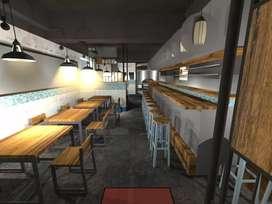 Pembuatan Cafe Industrial Modern