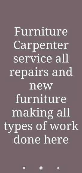Carpenter service and all types of furniture work done here