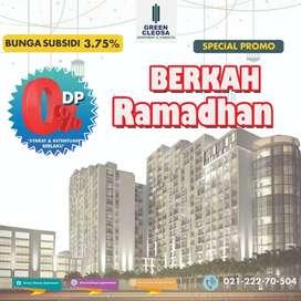 Apartemen free furnish free DP subsidi binga.
