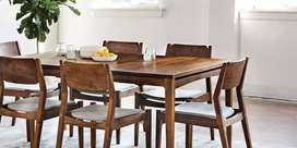 6 seater Dining table and chairs