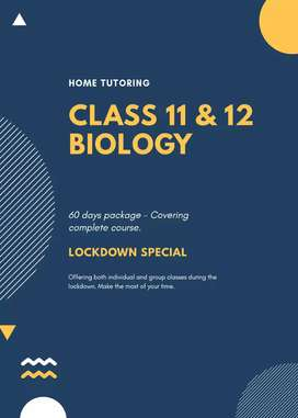 Class 11 and 12 BIOLOGY TUITIONS