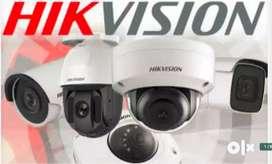 HIKVISON 4 CCTv CAMERA COMPLETE SETUP