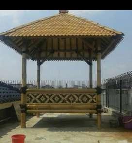 Saung bambu/saung murah dan berkualitas