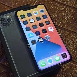 Iphone 11 pro max 64gb midnight green fullset