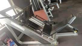 Gym machine. Leg press