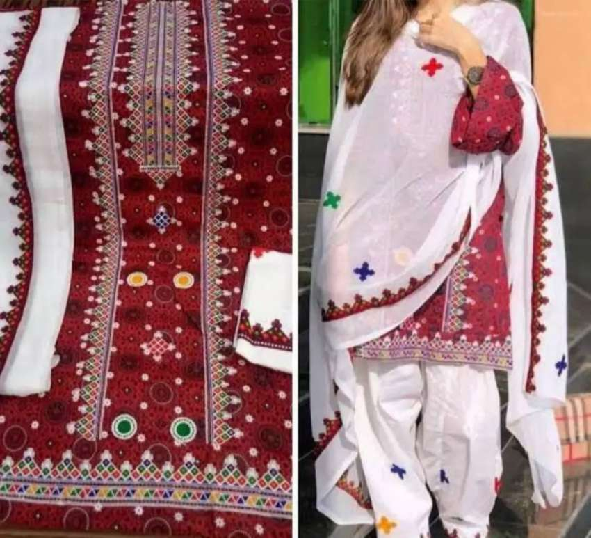 sindhi dress(3 piece suit)FREE HOME DILEVERY IN ALL OVER THE PAKISTAN) 0