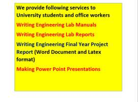 Engineering Lab Manuals , Report Writing and Presentation Making