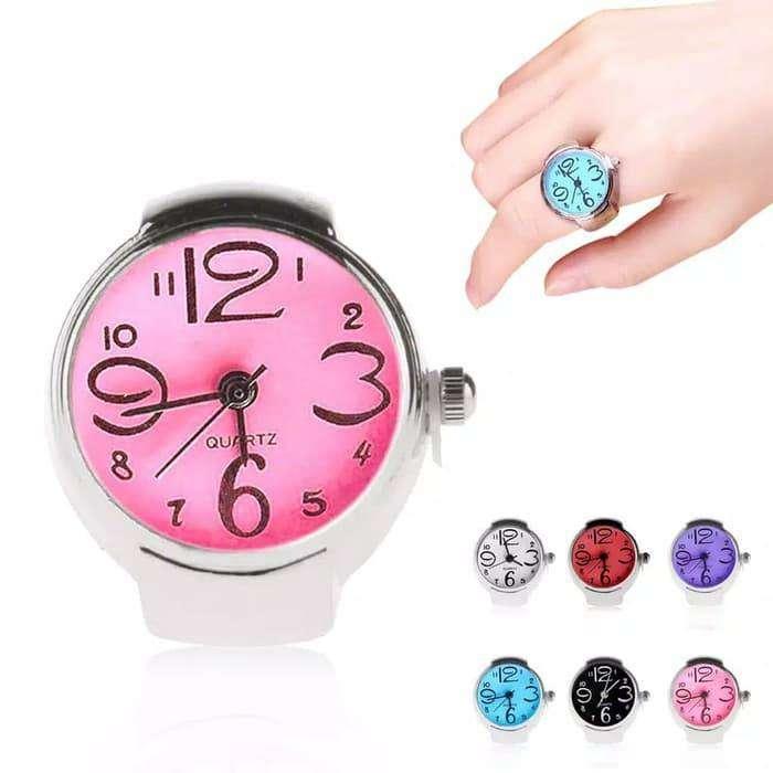 Jam Jari Jam Cincin Finger Watch Fashion Wanita Cewek Perempuan Quartz