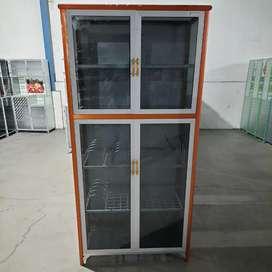 Rak Piring Pintu 2 Full Box Kaca Riben Seng