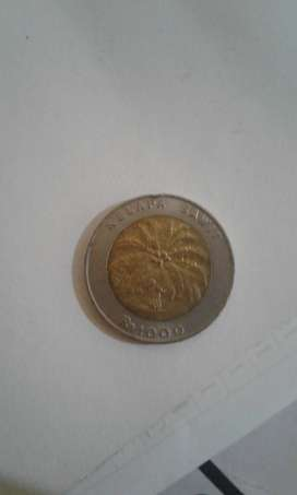 Uang koin Rp.1000 gmbr kelapan sawit