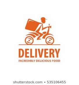 Job hiring for food company fresher candidate bikers and cyclists.