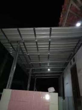 Kanopi baja ringan atap spandek polos