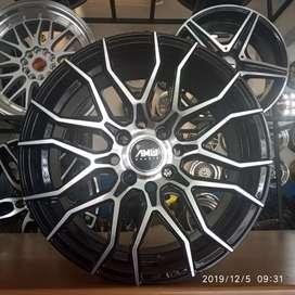 Velg Ring 15x7 pcd 4x100+114.3 velg amw whells on Swift ayla brio RS