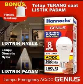 AB Lampu led emergency Hannochs 6W(65rb)8W(70rb)10W(80rb)12W(95rb)