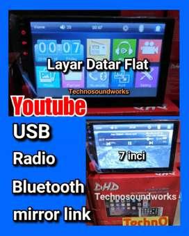 New Tv mobil YouTube flat layar 7in datar head unit paket sound jok