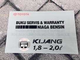 Book Manual & Service Repro Ori Toyota Kijang Krista/LGX dll 2000/04