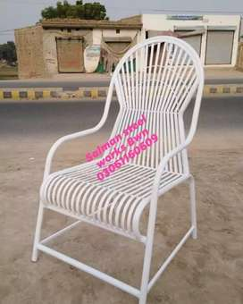 Garden fancy iron chair for lawn and farm house