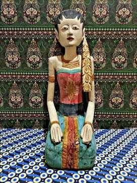 Dekorasi Patung Meja Tembok Cafe Restoran Toko Ruko Keris Ac Tv Hp