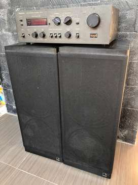 Speaker kef 304 dan ampli technics SU-V4