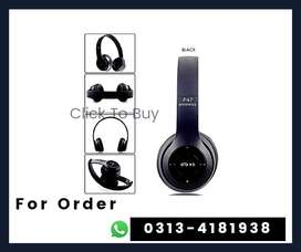 P47 Bluetooth Foldable Headset  for PC TV Smart Phones & Tablets Etc