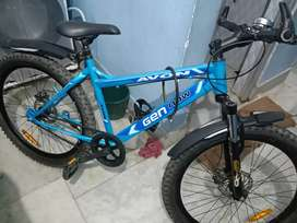 New 2 days old bicycle with disbrake