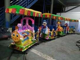 Odong kereta lantai fiberplat DISKON spesial mini coaster NP