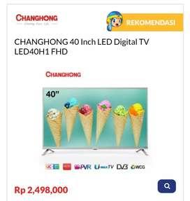 Kredit TV CHANGHONG 40 Inch LED Digital TV LED40H1 FHD