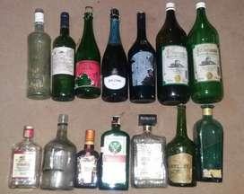 Botol bekas pajangan kamar