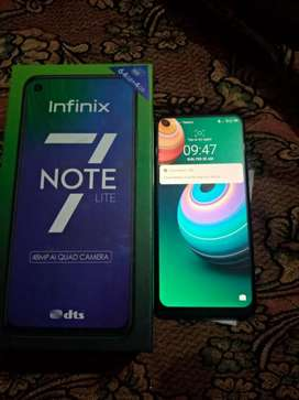 Infinix note 7 lite 4/64 For sale