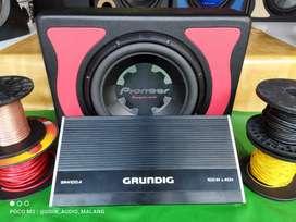 Paket power subwofer Pioneer dan GrundiG murah kualitas jempolan