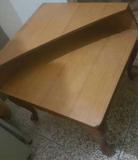 Beautiful Double rack wooden table in just Rs 3500. Price kam hojaenge