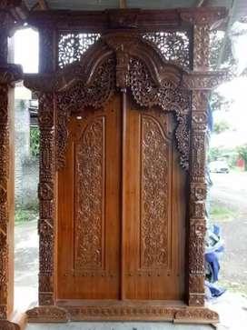 Kusen pintu gebyok kayu jati