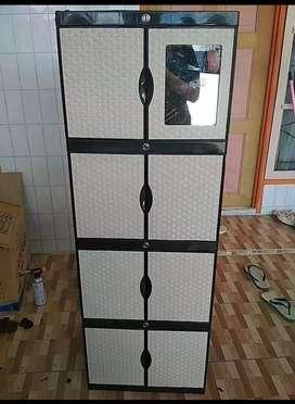 Gratis ongkir bjm - Lemari plastik 8 pintu / 4 rak dalam mininalis
