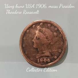 Uang Kuno Dollar Amerika antik kolektor koin kuno