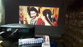 led projector wifi youtube 4K 3D 150 INCHS USB HDMI VGA SMART