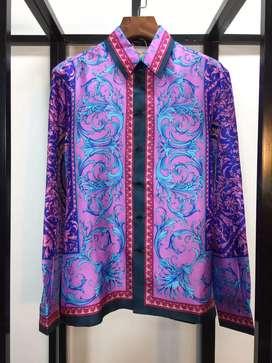 Jual promo special kemeja silk shirt from Versace barocco print