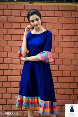Drishya Fancy Khadi Cotton Dress