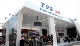 opening for TVS showroom male candidates can also apply