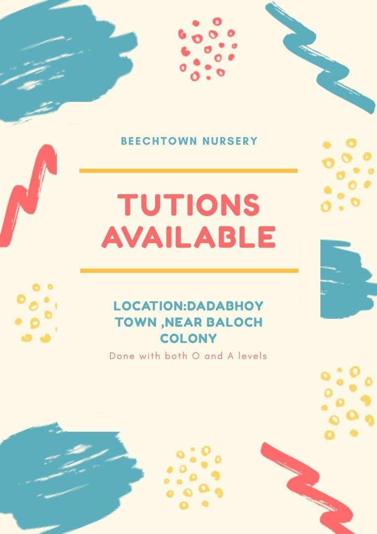 Tution available at my place for students from class 1-8 0