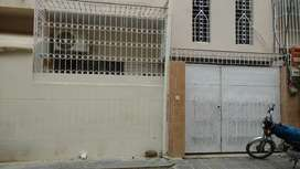House ground ± half West open next to main road north Karachi sector 8