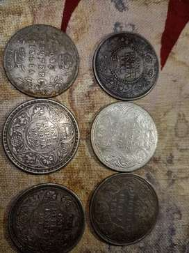 Antique silver 1 rs Indian coin