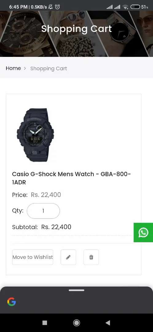Casio G-SHOCK 800 G 0