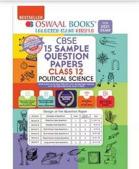 OSWAAL BOOKS CBSE 15 Sample Question Papers Class12 Poltical science