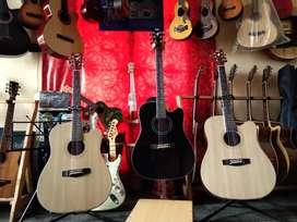 Gitar akustik gitar string udah tanem besi