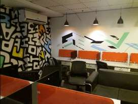 12 workstations 2 cabin full furnished office space available