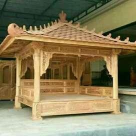 Gazebo kayu jati 3x3m istimewa