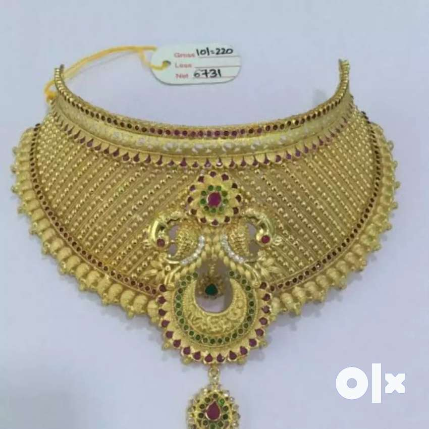 Gold jewellery for sale without making and polish 23 crt kdm gold